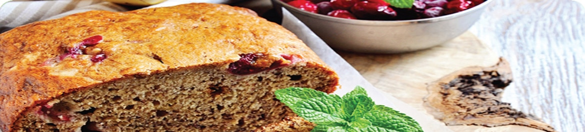 Banana and Cranberry Bread