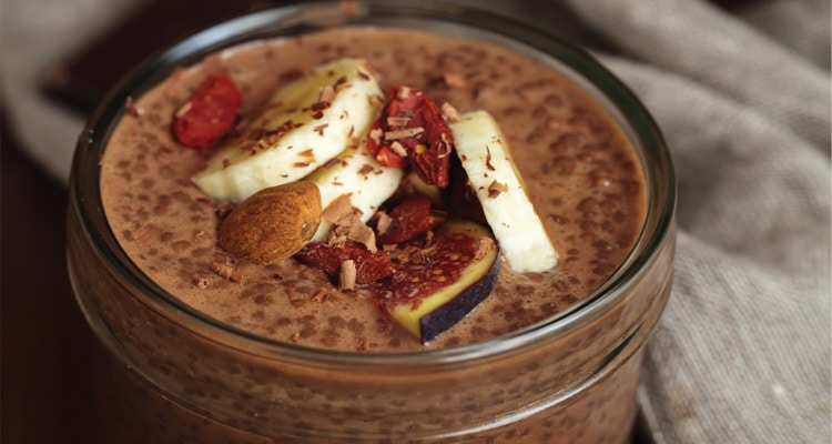 Cacao and Chia Seed Pudding
