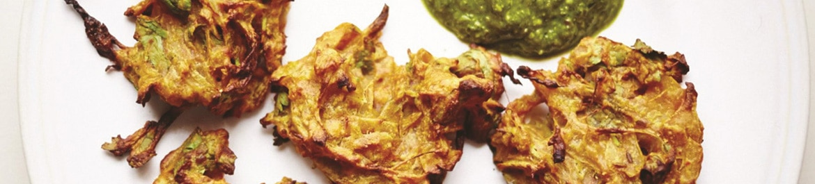 Easy Baked Onion Bhajis