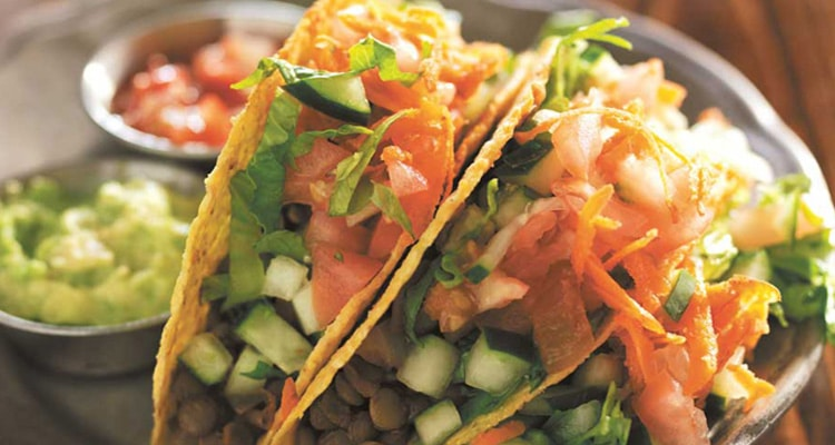 Easy Crispy Tacos with Lentils