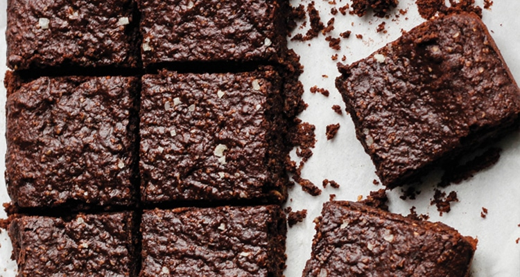 Sesame and Sea Salt Dark Chocolate Brownies
