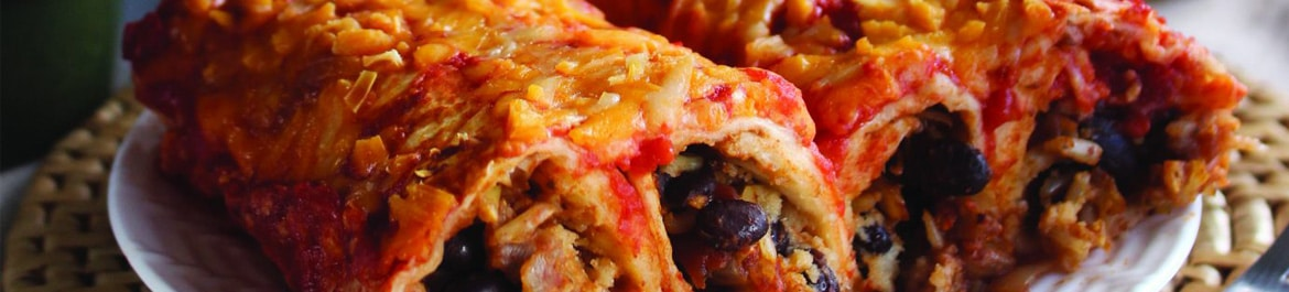 Black Beans and Rice Enchiladas