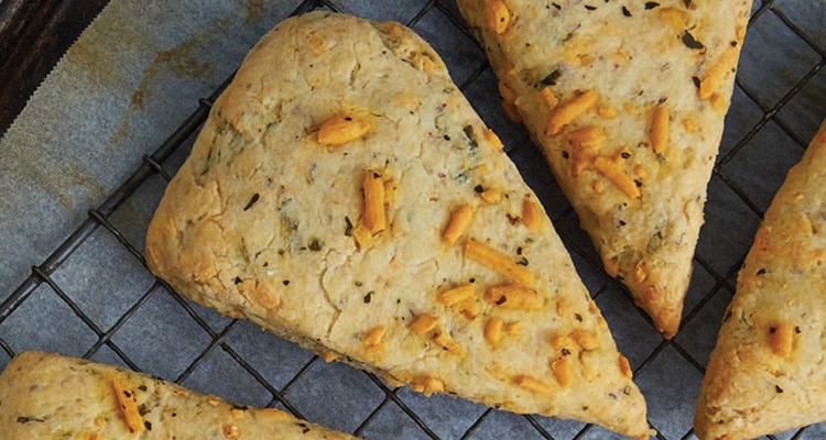 Savoury Cheddar and Basil Scones