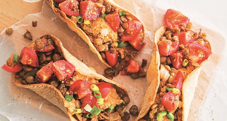 Spicy Chipotle Lentil Tacos