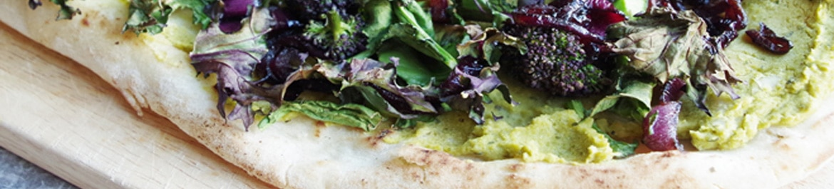 Spring Green and Purple Flatbread