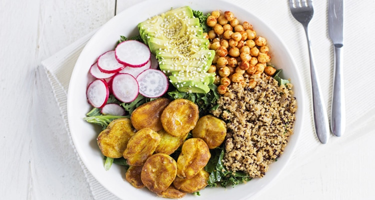 Turmeric Potato Quinoa Power Bowl