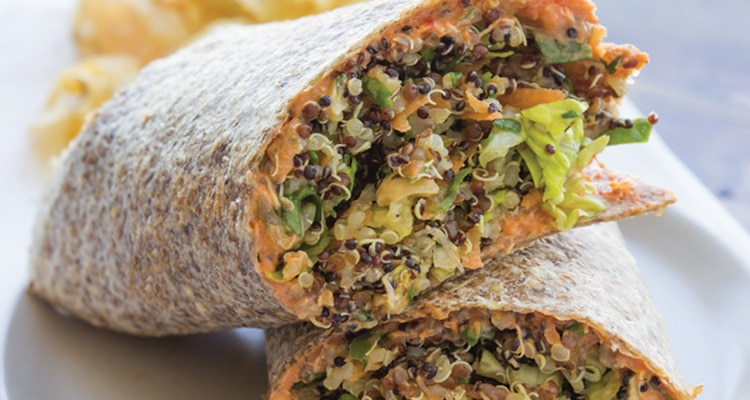 Vegetable and Quinoa Wrap with Aioli