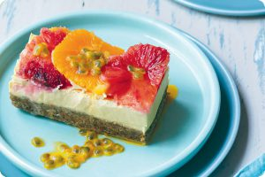 orange and passionfruit cheesecake