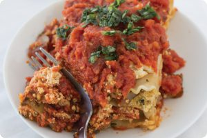 Roasted Vegetable Lasagna fibre