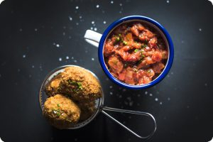 dairy free mac and cheese balls salsa