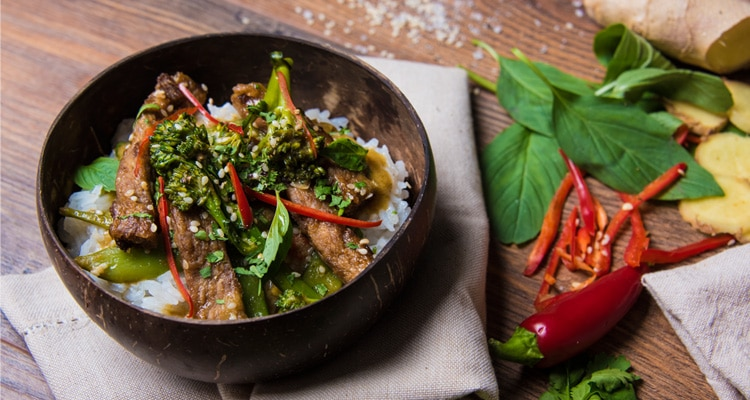 Thai Green Curry with Fry's Chicken Style Strips