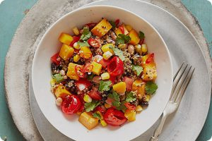 south american quinoa mango salad