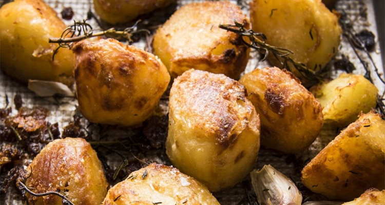 Garlic and Herb Roast Potatoes