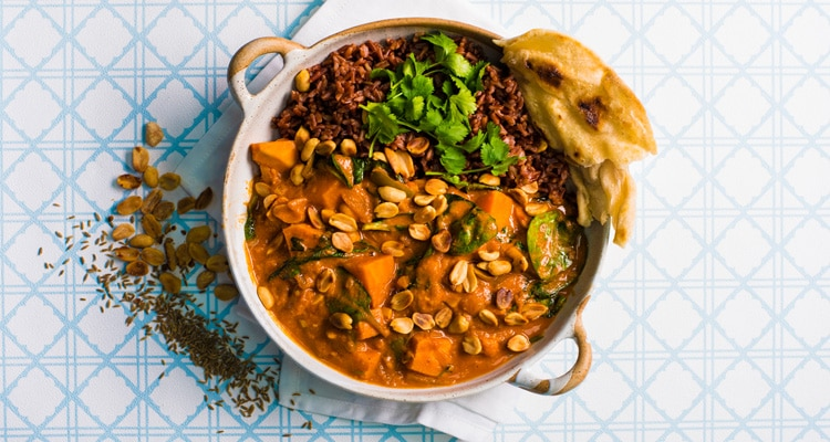 Meals in Minutes - African Peanut Stew with Roti