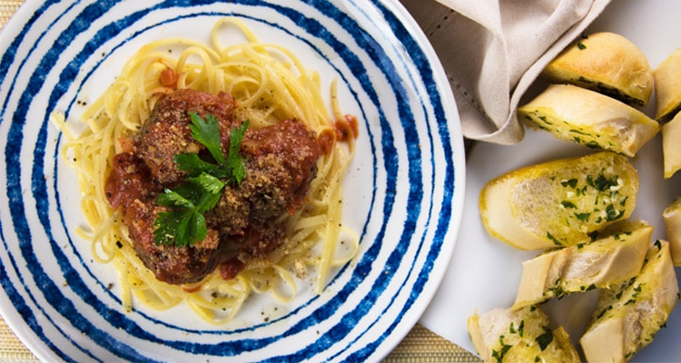 Meals in Minutes - Lentil 'Meatballs' in Tomato Sauce with Linguine