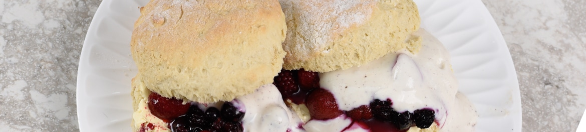 Summer Scones with Pimm's Berries & Vanilla Yogurt | Recipes | PlantBased Magazine