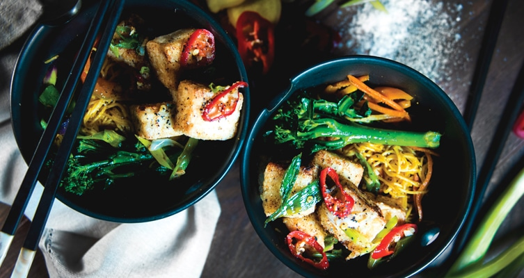 Salt and Pepper Tofu with Singapore Noodles