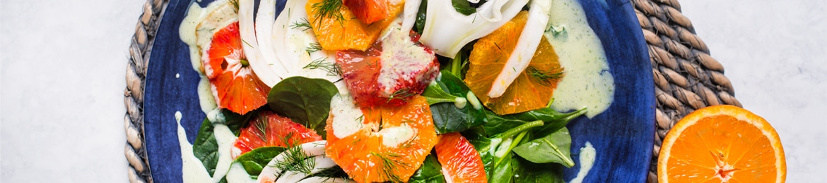 Blood Orange, Fennel And Dill Salad