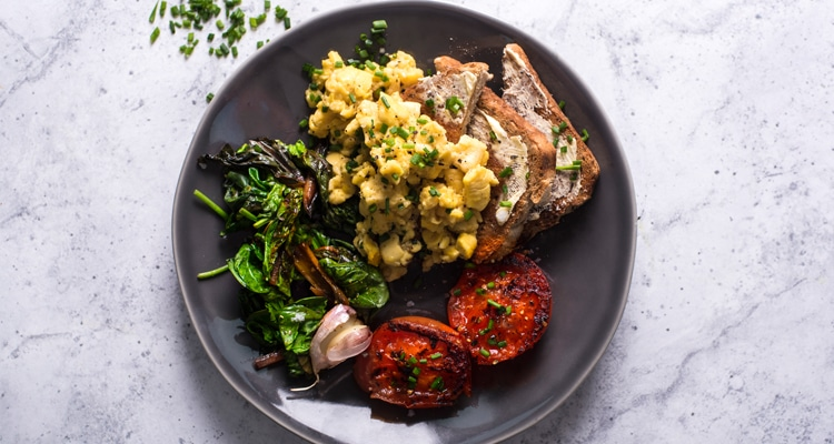 Ackee Scramble On Toast