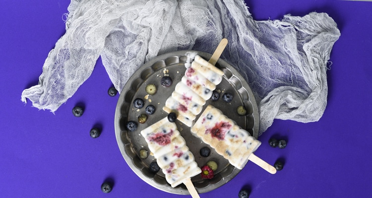 Blueberry and Biscuit Lollies
