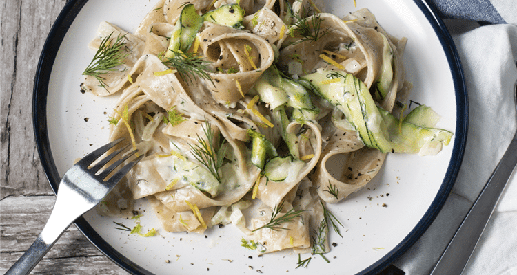 Fennel, Courgette and Lemon Pappardelle