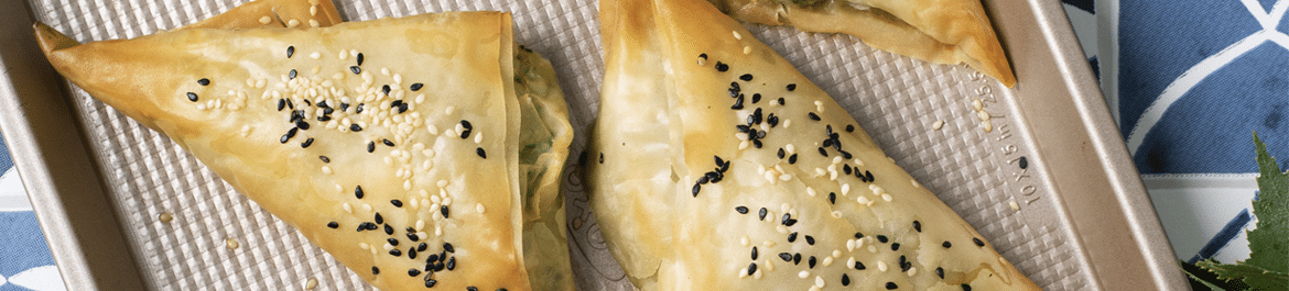 Spinach and Tofu Filo Parcels