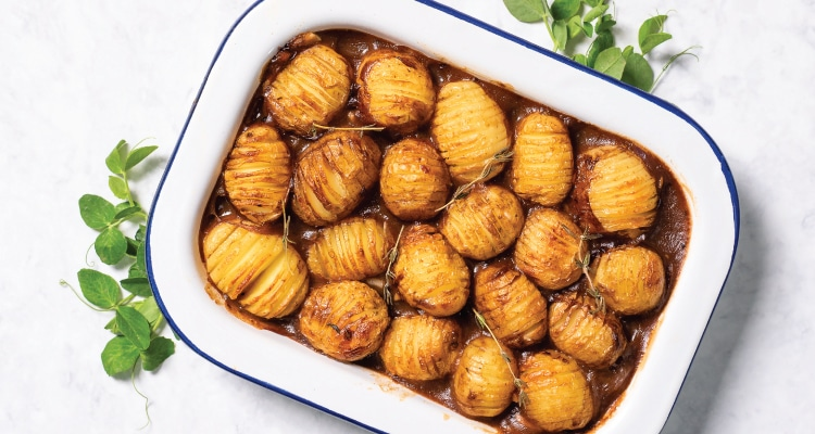 Mushroom and Ale Hotpot with Baby Hasselbacks