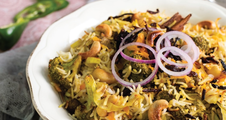 Tandoori Vegetable Biryani