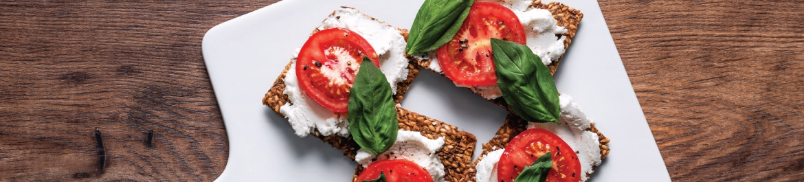 Tomato and Herb Crackers with Macadamia Cream Cheese