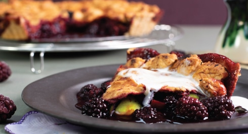 Spiced Apple and Blackberry Pie