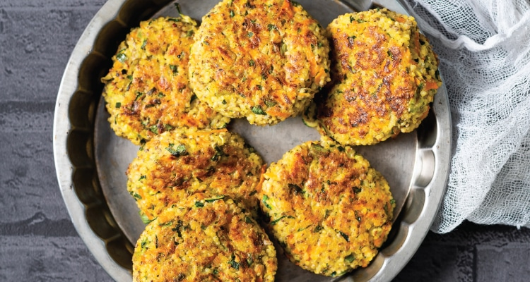 Minty Courgette and Millet Cakes
