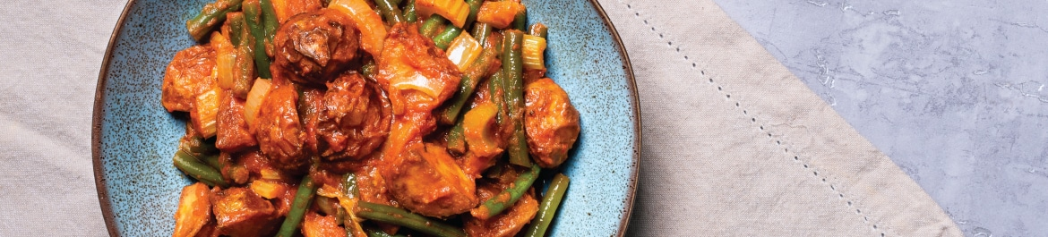 Green Bean and Roasted Potato Curry