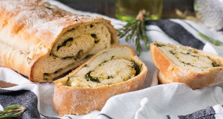 Stuffed Green Veggie Bread