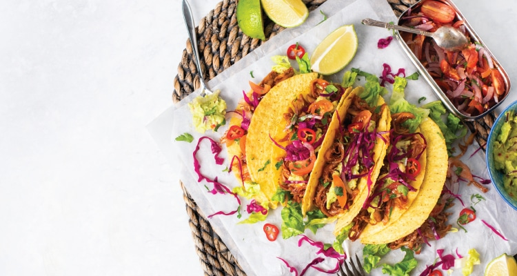 Pulled BBQ King Oyster Mushroom Tacos