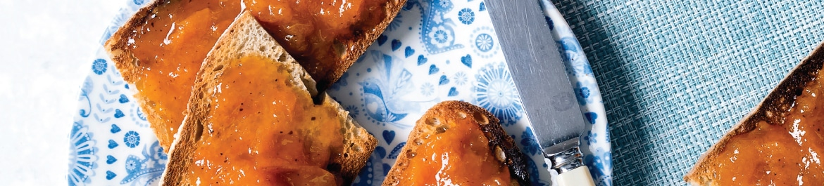 Apricot, Ginger and Nutmeg Jam