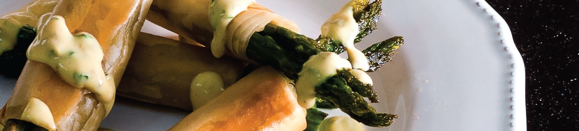 Asparagus Bundles with Vegan Hollandaise