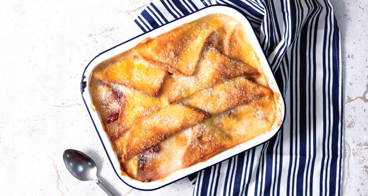 Fruity Coconut Bread and Butter Pudding