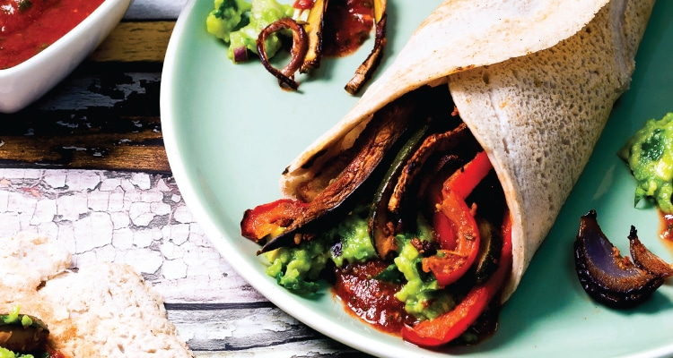 Vegetable Fajitas with Buckwheat Wraps