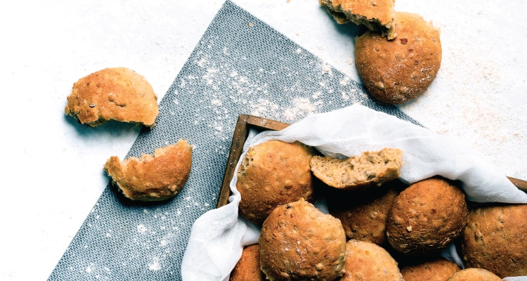 Wholemeal and Lentil Bread Rolls