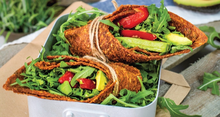Raw Red Pepper and Sundried Tomato Wraps