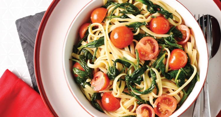 Samphire and Spinach Linguine