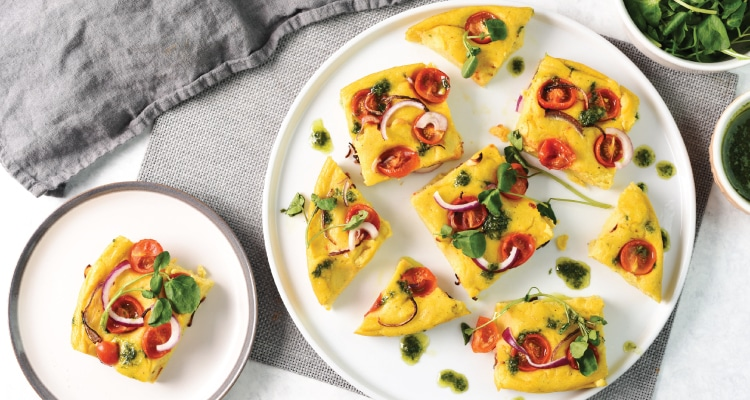 Baked Polenta with Cherry Tomatoes and Basil Oil