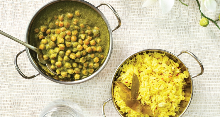 Creamy Coconut, Kale, Spinach and Chickpea Curry