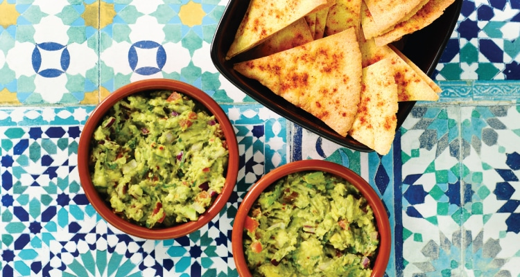 Guacamole with Spiced Tortilla Chips
