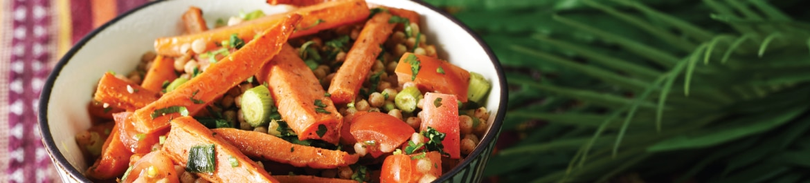 Israeli Couscous with Za'atar Roasted Carrots
