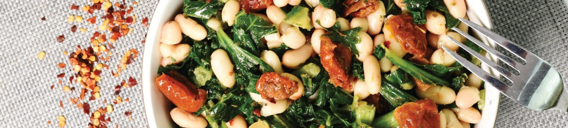 Kale, White Bean and Sundried Tomato Salad