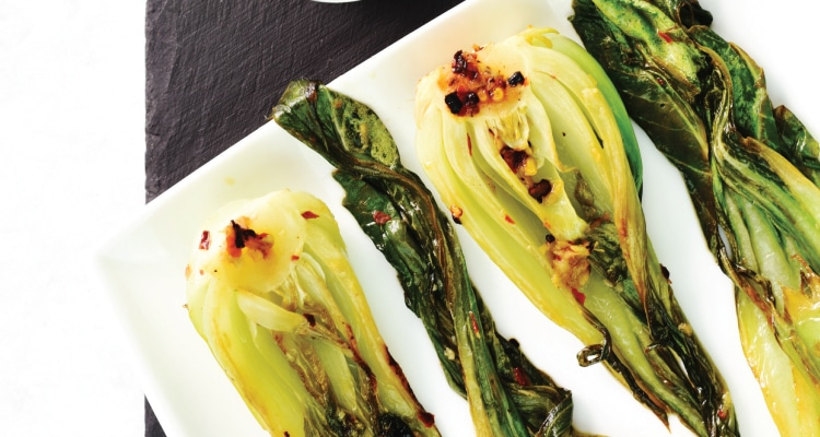 Pak Choi with Chilli, Garlic and Ginger Butter