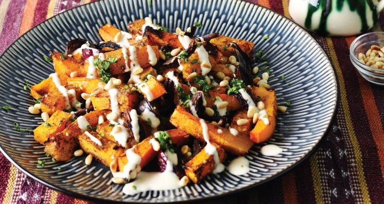 Squash and Red Onion with Tahini and Za'atar