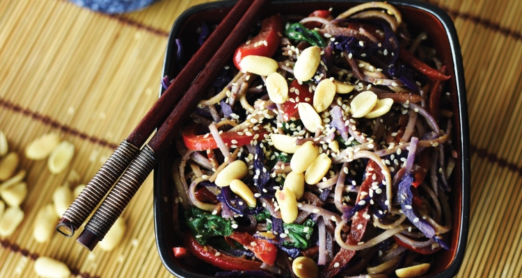 Spicy Peanut and Vegetable Noodles