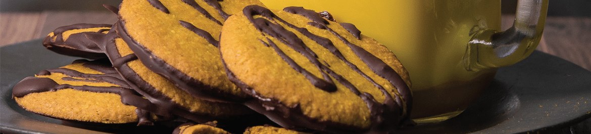 Chocolate, Lemon & Turmeric Cookies